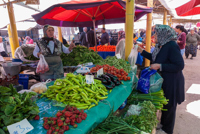 Open market in Turkey royalty free stock image