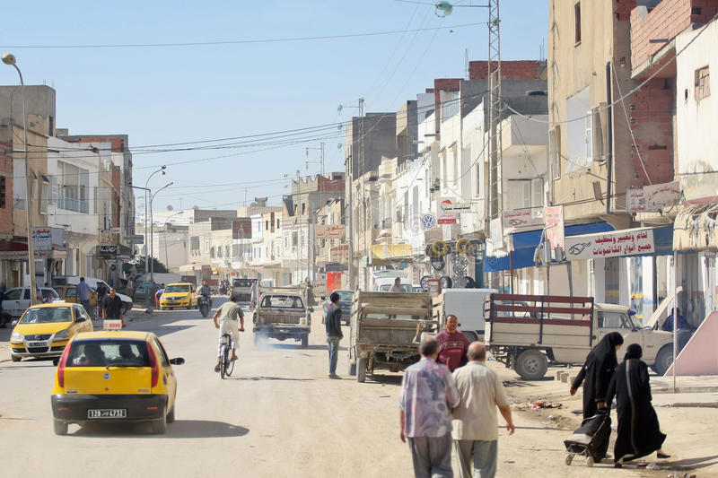 Street of Kairouan stock photos