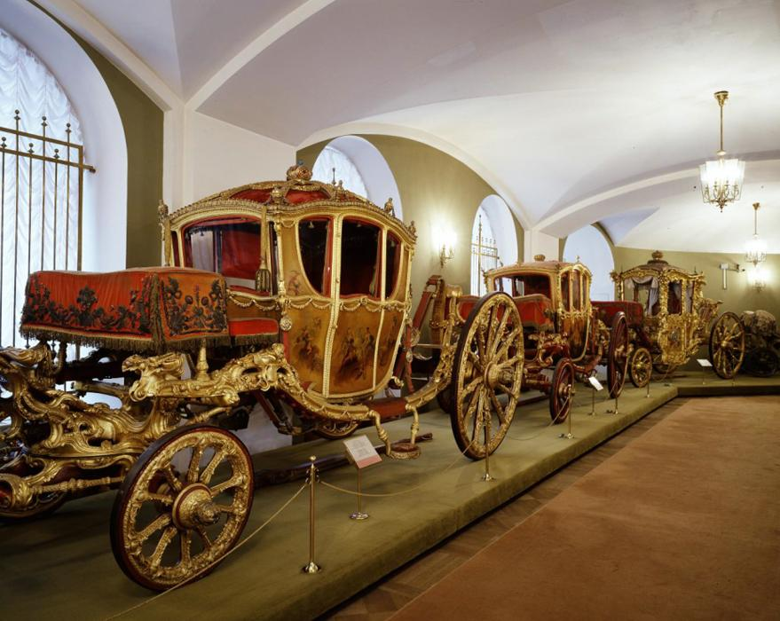 Interior of Moscow Kremlin Armory - Carriages