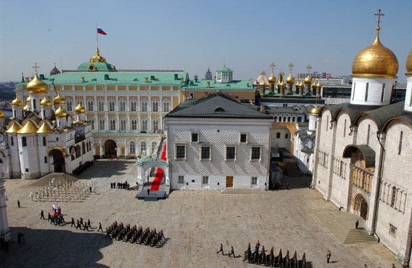 Square cathedrals Kremlin