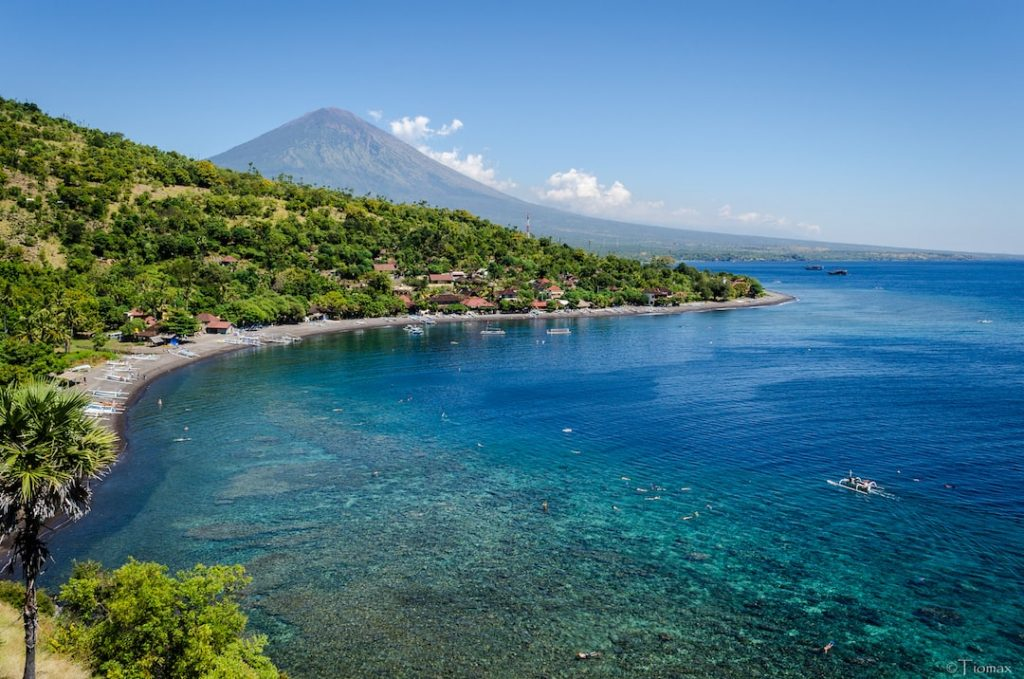 Stunning view of Amed in Bali